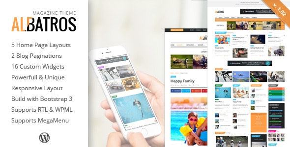 Albatros - WordPress Magazine Theme - Blog / Magazine WordPress