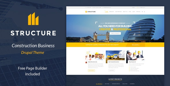 Structure - Construction Drupal Theme - Business Corporate