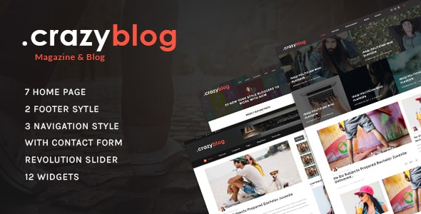 CrazyBlog - Blog HTML Template for Ads Businesses - Personal Site Templates