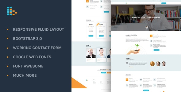 Bplus: Business & Consultancy HTML Theme - Corporate Site Templates