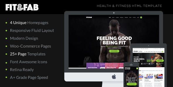 Fit & Fab - Aerobic, Gym and Fitness Bootstrap HTML5 Template