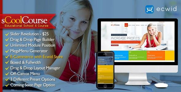 sCoolCourse - MultiPurpose Educational Template - Business Corporate