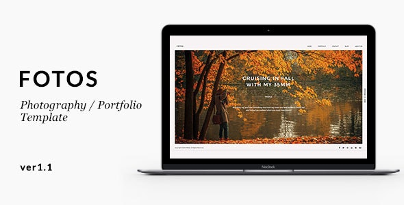 Fotos - Minimalistic Photography / Portfolio Template - Creative Site Templates