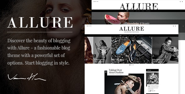 Allure - Beauty & Fashion Blog Theme - Personal Blog / Magazine