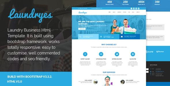 Laundryes - Laundry Business Html Template - Fashion Retail