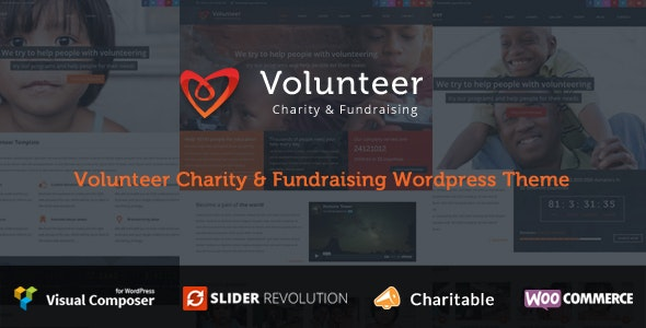 Volunteer - Charity/Fundraising WordPress Theme - Charity Nonprofit