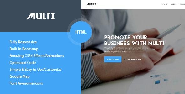 Multi - Friendly Multi-Purpose HTML Template - Business Corporate