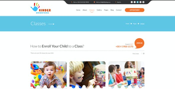 Kinder - Kindergarten PSD Template