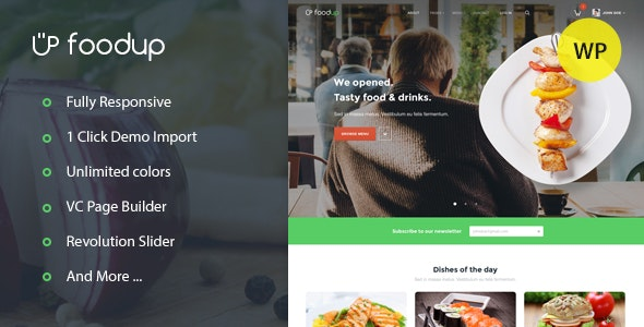 FoodUp — Food & Restaurant WordPress Theme - Entertainment WordPress