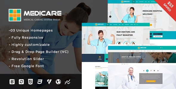 Medicare - Medical and Health Responsive WordPress Theme - Health & Beauty Retail