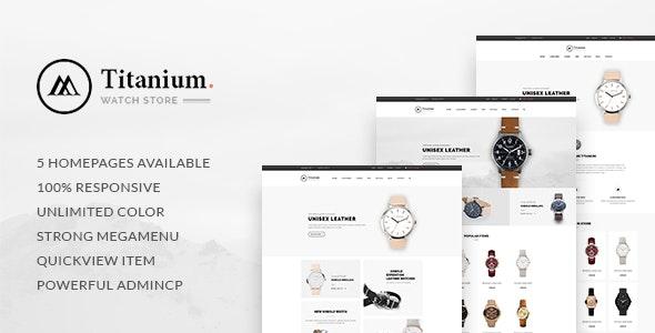 Leo Titanium Prestashop 1.6 & 1.7 Theme for Watches Store - PrestaShop eCommerce