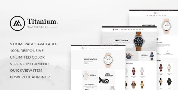 Leo Titanium Prestashop 1.6 & 1.7 Theme for Watches Store
