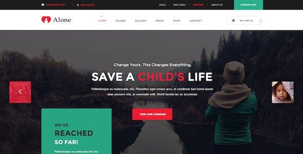 Alone - Multipurpose Non-profit PSD Template