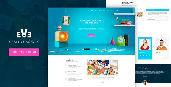 Eve Creative Drupal 7.6 Theme - Corporate Drupal