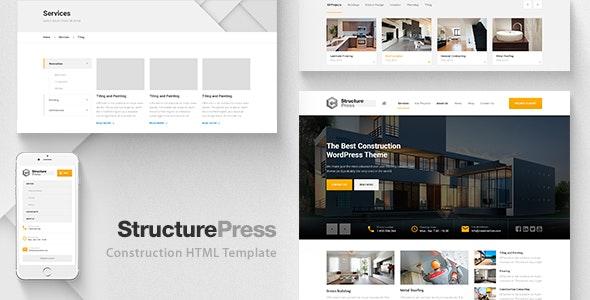 StructurePress Construction Building HTML Template