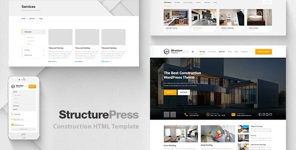 StructurePress – Construction, Building HTML Template