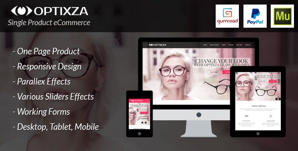 Rio Optixza E-Commerce Single Product Muse Template