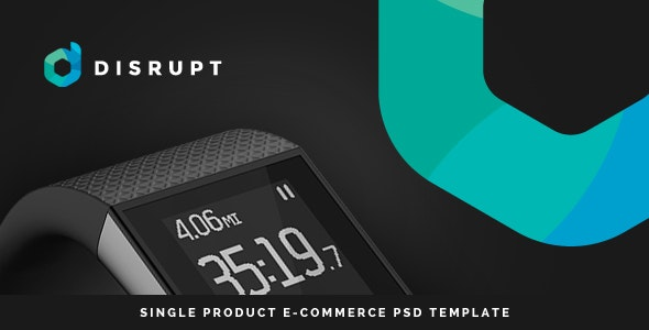 Disrupt - Single Product e-Commerce PSD Template - Technology Photoshop