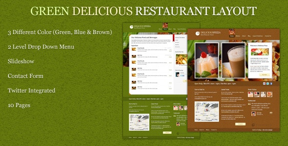 Green Delicious Restaurant Layout - Restaurants & Cafes Entertainment