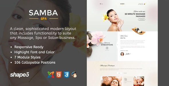 Samba Spa - Responsive Spa Template  - Health & Beauty Retail