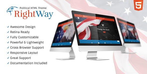 Right Way | Politics & Activism Site Template