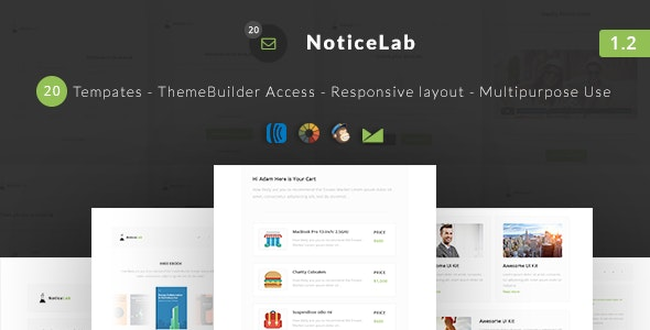 NoticeLab - Email Notification Templates + Builder - Email Templates Marketing