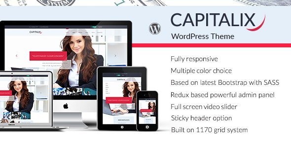 Capitalix — Business, Finance WP theme - Business Corporate