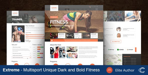 Extreme Gym & Fitness Theme