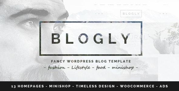 Blogly - Fancy WordPress Blog Theme - Personal Blog / Magazine