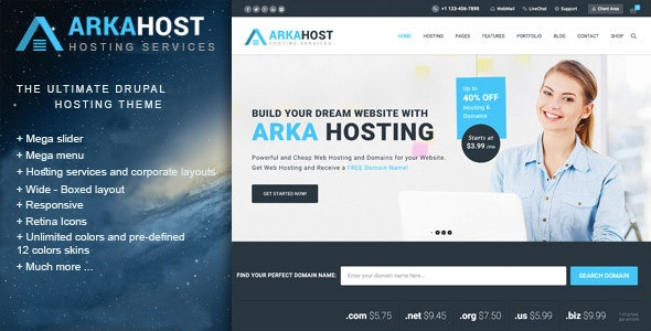 Arka Host - Responsive Hosting & Corporate Theme - Site Templates