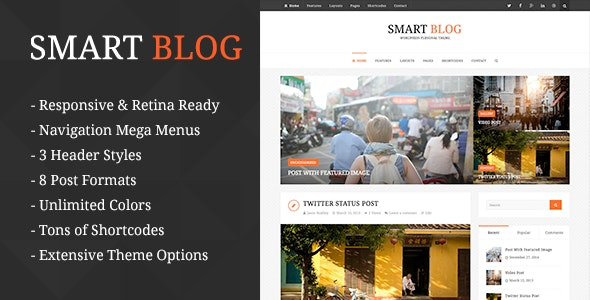 Smart Blog - WordPress Theme For Personal Blog - Personal Blog / Magazine