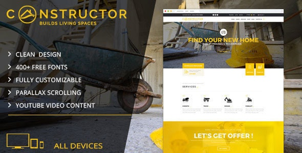 Constructor | Building Company Muse Template - Corporate Muse Templates