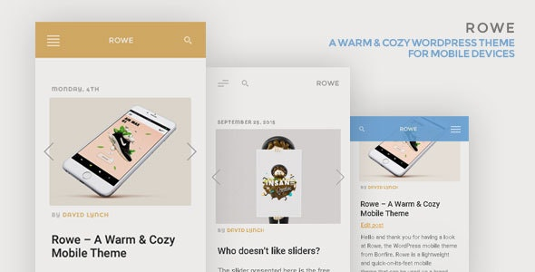 ROWE Mobile Theme for WordPress - Mobile WordPress