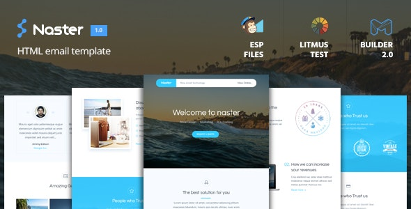 Naster - HTML Email Template + Builder 2.0 - Email Templates Marketing
