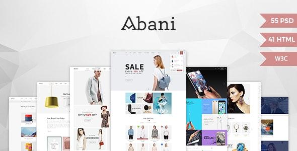 Abani – Multi Purpose eCommerce HTML Template - Fashion Retail