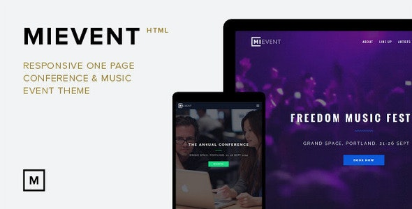 MiEvent- Responsive Parallax Event & Music Theme - Events Entertainment