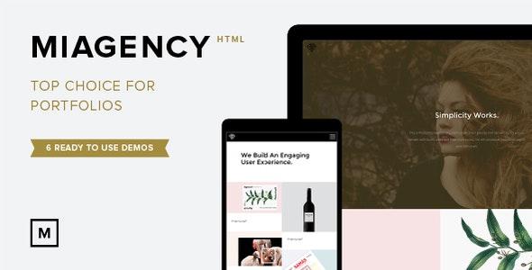 MiAgency- Minimalistic & Flexible Portfolio Theme - Creative Site Templates