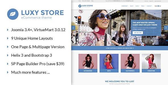 Vina Luxy - Multipurpose VirtueMart Joomla Template - VirtueMart Joomla