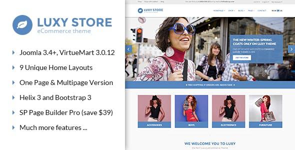 Vina Luxy - Multipurpose VirtueMart Joomla Template
