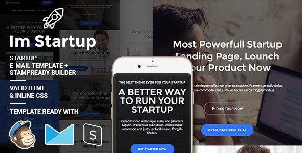 Im Startup - Responsive Email + StampReady Builder - Email Templates Marketing