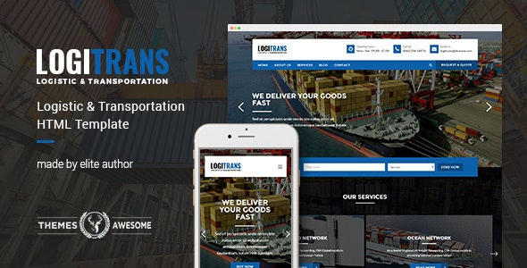 LogiTrans - Logistic and Transportation HTML Template - Business Corporate