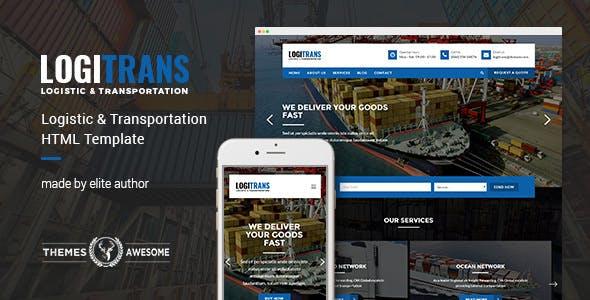 LogiTrans - Logistic and Transportation HTML Template