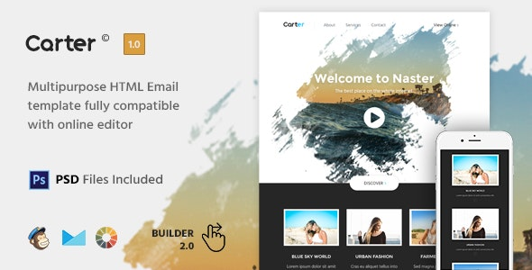 Carter - HTML Email Template + Builder 2.0 - Newsletters Email Templates