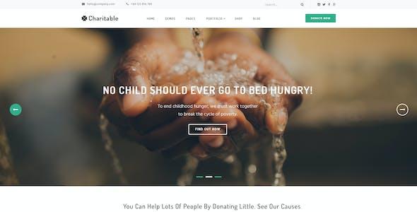 Charitable - Nonprofit Organization PSD Theme