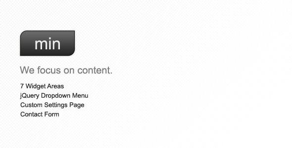 Min - A Minimal WordPress Theme - Personal Blog / Magazine
