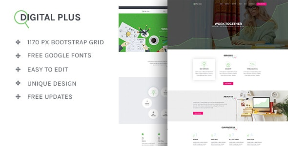 Digital Plus - SEO/Marketing HTML5 Template - Portfolio Creative