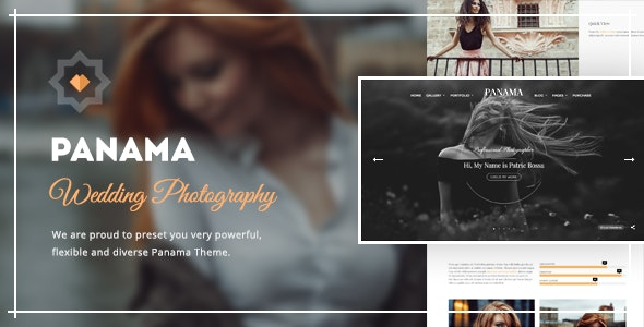 Photography WordPress Theme: Portfolio & Transitions: Panama - Photography Creative