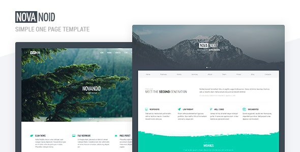 Novanoid — Simple Minimal - Site Templates