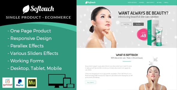 Download Rio Care E-Commerce Single Product Muse Template