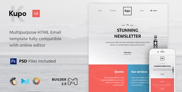 Kupo - HTML Email Template + Builder 2.0 - Newsletters Email Templates